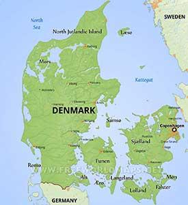denmark-physical-map